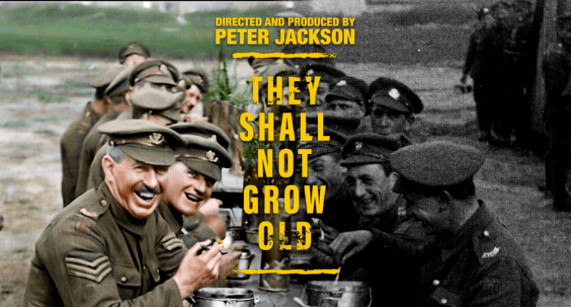 "Sir Peter Jackson's ""They Shall Not Grow Old"" is nominated for a 2019 BAFTA"